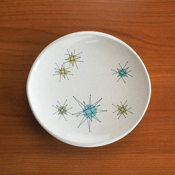 Franciscan Starburst Small Bread Plate Mid Century Atomic Stoneware Dishes