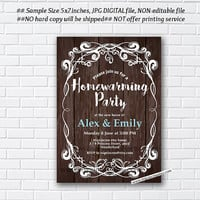 housewarming invitation, New house home sweet home Invitation chalkboard design, We have moved Invitation Card Design - card 279