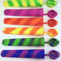 Silicone Popsicle Mold Ice Lolly Mold Ice Pop Mold Snack Ice Cream Mold with Att...