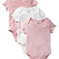 Gap Baby Favorite Embroidered Bodysuit 3 Pack