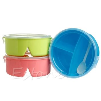 Lunch Box Round Microwave Picnic Container Storage