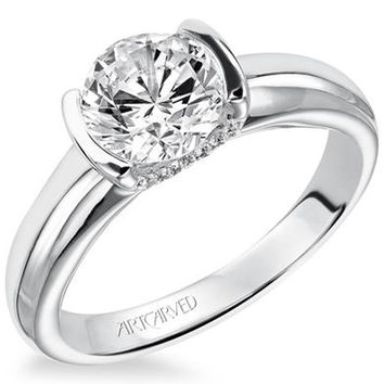 "Artcarved ""Rachel"" Half Bezel Diamond Engagement Ring"