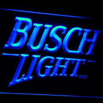 Busch lite Beer Vintage Club Bar LED Neon Sign with On/Off Switch 7 Colors to choose
