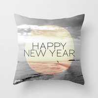 HAPPY NEW YEAR Throw Pillow by Pia Schneider [atelier COLOUR-VISION]