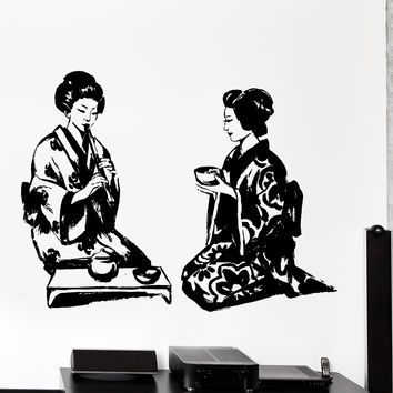 Vinyl Wall Decal Geisha Japan Japanese Far East Cozy Big Home Decor Unique Gift z4443