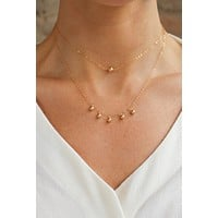 Grande Gold Dust Drop Necklace - Christine Elizabeth Jewelry