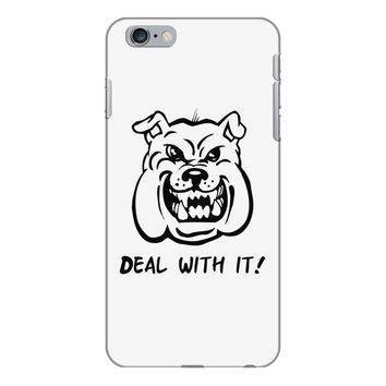 deal with it angry pitbul iPhone 6/6s Plus Case