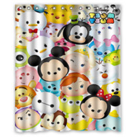Best Character Disney Tsum Tsum High Quality Shower Curtain Size 60x72 Inch