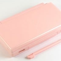 Coral Pink Nintendo DS Lite Complete Full Housing Shell Case Replacement Repair w/ Hinge Set