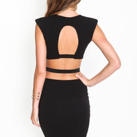BELTED CUT OUT MIDI DRESS