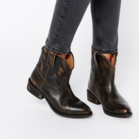 Mango Leather Western Ankle Boot at asos.com