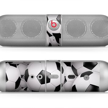 The Soccer Ball Overlay Skin for the Beats by Dre Pill Bluetooth Speaker