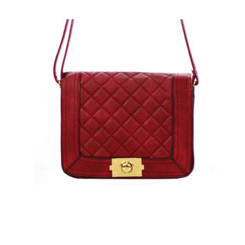 Women's Handbag Red Leather Clutch