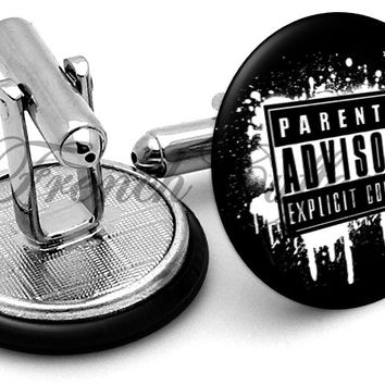 Parental Advisory Cufflinks