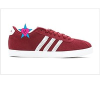 Crystals Glitter Red Women's Adidas Courtset-W Sneakers