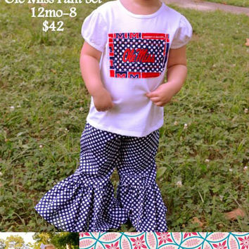Hotty Toddy - Ole Miss Ruffled Pant Outfit