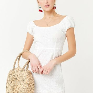 Embroidered Eyelet Dress