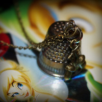 Peter Pan Wendy Thimble Kiss Acorns Charm Necklace