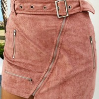 Falling Short Skirt: Dusty Pink