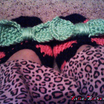 Striped Slippers w/Bow
