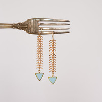 The Fisherman's Daughter - Fish Spine Chevron Earrings by Prairieoats