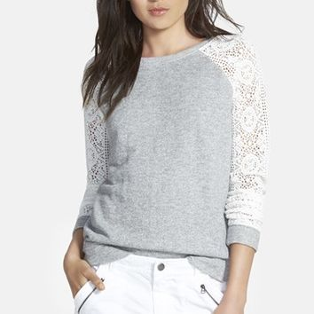 Women's Hinge Lace Sleeve Sweatshirt