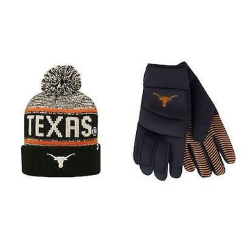 Licensed NCAA Texas Longhorns Grip Work Glove And Acid Rain Beanie Hat 2 Pack 68663 KO_19_1