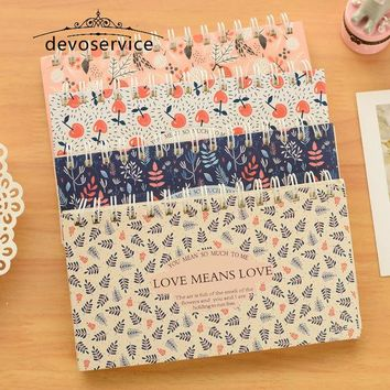 DCCKL72 1pc Blooming flower notebook Coil spiral planner Weekly agenda diary book stationery papelaria Material escolar Office supply