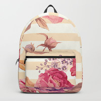 Pastel Flowers Backpack by Printapix