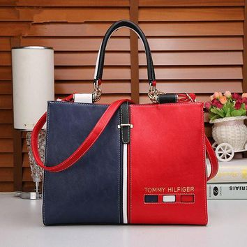 """Tommy Hilfiger"" Personality Women Trending Fashion Multicolor Single Shoulder Messenger Bag Women Handbag G"