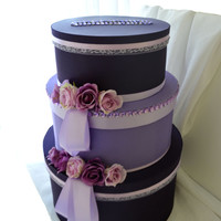 Purple & Lavender Wedding Card Box. One of a kind wishing well.