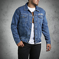 Denim Jacket with Eagle