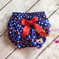 Sale Patriotic Satin Bloomer only Bloomers by MyLilSweetieBoutique
