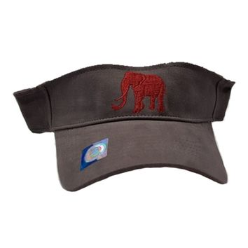 Alabama Crimson Tide Elephant Grey Visor | BAMA Elephant Visor | Alabama Crimson Tide Grey Visor