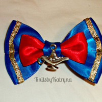 Aladdin Genie Inspired Hair Bow Disney