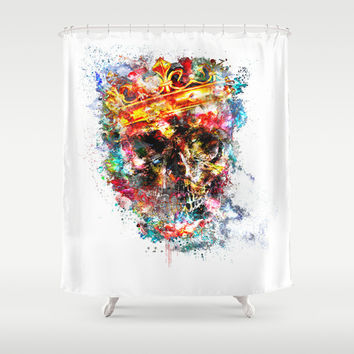 King Dusty Shower Curtain by HappyMelvin