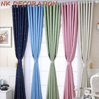 NK DECORATION Modern Star Blackout Window Curtains For Kids Boys Girls Bedroom Living Room Elegant Shade Curtains