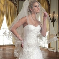 Two-tier Waltz Bridal Veils With Scalloped Edge pj588 - IZIDRESSBUY.COM