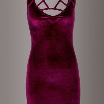 Show Stopper Burgundy Velvet Dress