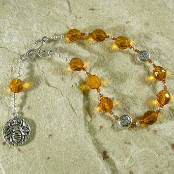 Meduna Pocket Prayer Beads: Gaulish Celtic Goddess of Mead, Inspiration, Intoxication