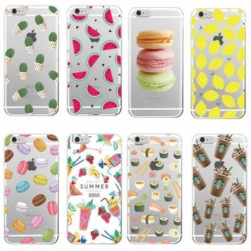 Cactus Watermelon Lemon Sushi Phone Case for Samsung Galaxy S5 S6 S7