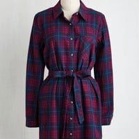 Mid-length Long Sleeve Shift Guest House Getaway Dress