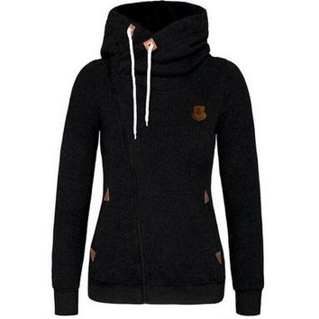 One-nice™ personality sweater cardigan Side zipper hoodie jacket