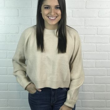 Pullover Sweater- Taupe