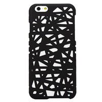 iPhone 6 Case, Slim Matte Bird Nest Hollow Hard Cover Case For iPhone 6 4.7 inch (black)