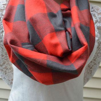 Buffalo Plaid Scarf - Buffalo Plaid - Red Plaid scarf - Plaid scarf
