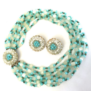 Vendome Multi-Strand Necklace and Earring Parure