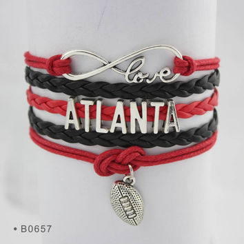 Infinity Love Football Bracelet - Atlanta Football
