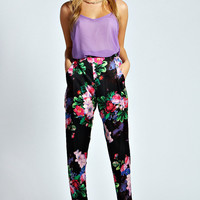 Misha Winter Floral Tapered Formal Trousers