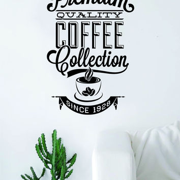 Premium Quality Coffee Quote Wall Decal Sticker Bedroom Living Room Art Vinyl Beautiful Kitchen Cute Shop Morning